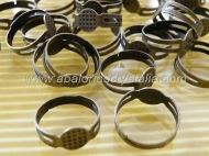 5 BASES DE ANILLO AJUSTABLES BRONCE (Base de 8 mm)