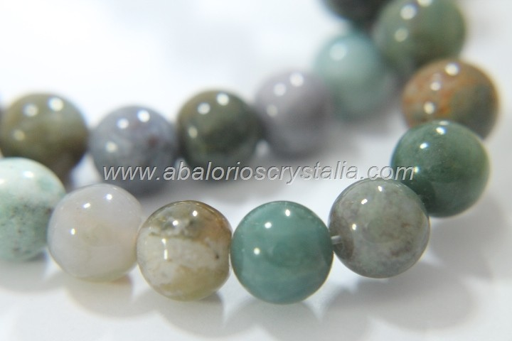 5 BOLAS PIEDRA AGATA INDIA 10mm