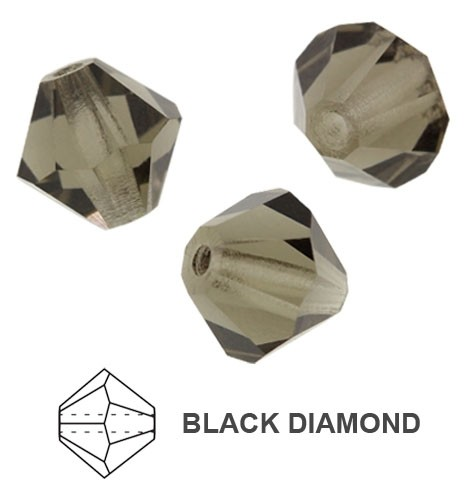 10 TUPIS CRISTAL TIPO AUSTRIACO COLOR BLACK DIAMOND 8MM