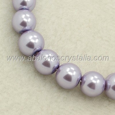 50 PERLAS DE CRISTAL COLOR LILA 4mm