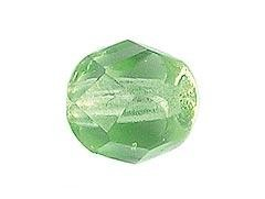 BOLA FACETADA CHECA PERIDOT 8mm (15 uds.)