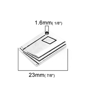 5 LIBROS PLATA ANTIGUA 21x13mm