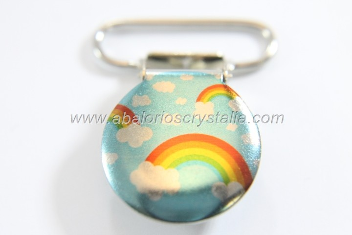 PINZA DE METAL 22mm ARCO IRIS