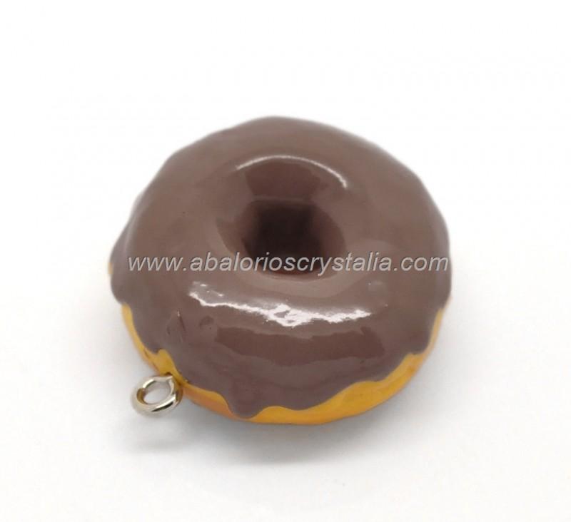 COLGANTE RESINA DONUTS CHOCO 28x25mm