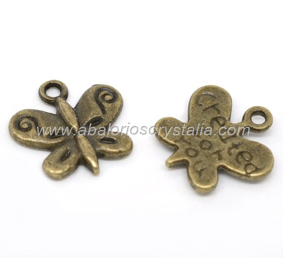 COLGANTE MARIPOSA BRONCE (created for you) 13x13x12mm
