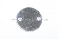 Conector entrepieza liso sin grabar 15 mm plata 925