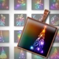 LÁMINA CON 35 IMÁGENES 25x25mm Navidad 4