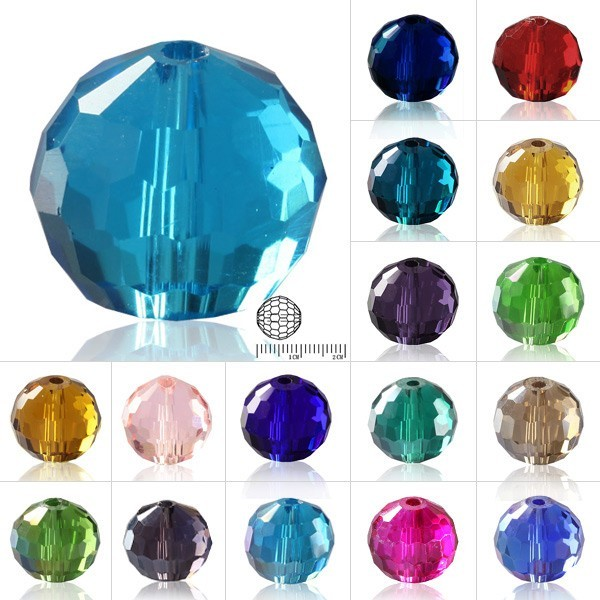 10 BOLAS CRISTAL FACETADO AJEDREZ TIPO AUSTRIACO 10mm MIX COLORES