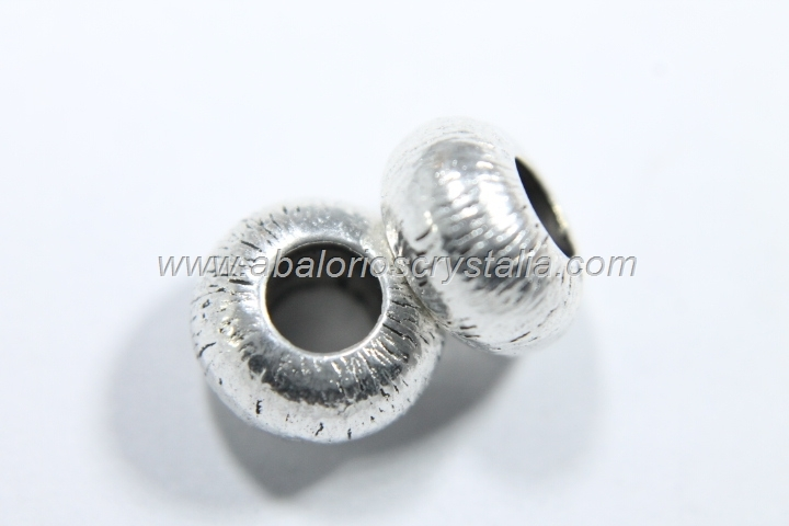 5 ARANDELAS PLATA ANTIGUA 10x6x10mm