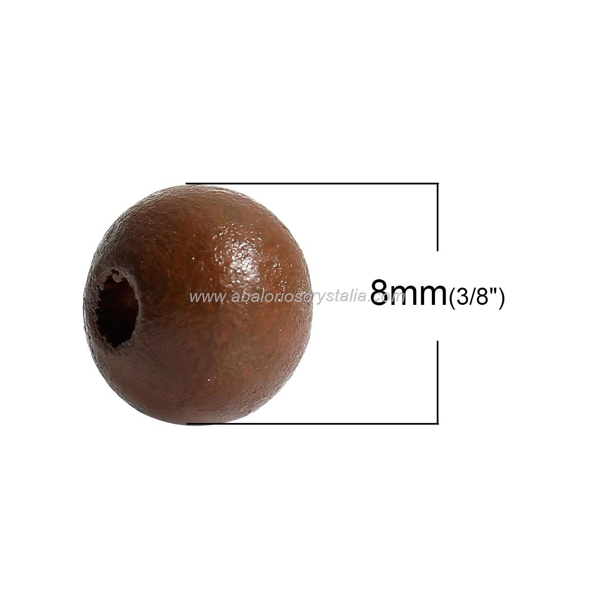 25 BOLAS DE MADERA MARRÓN 2, 8mm