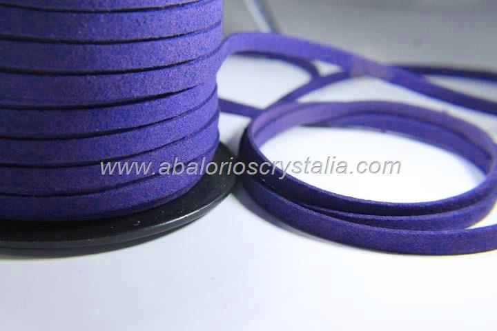 1 METRO DE ANTELINA ANCHA 5mm. AZUL ELÉCTRICO