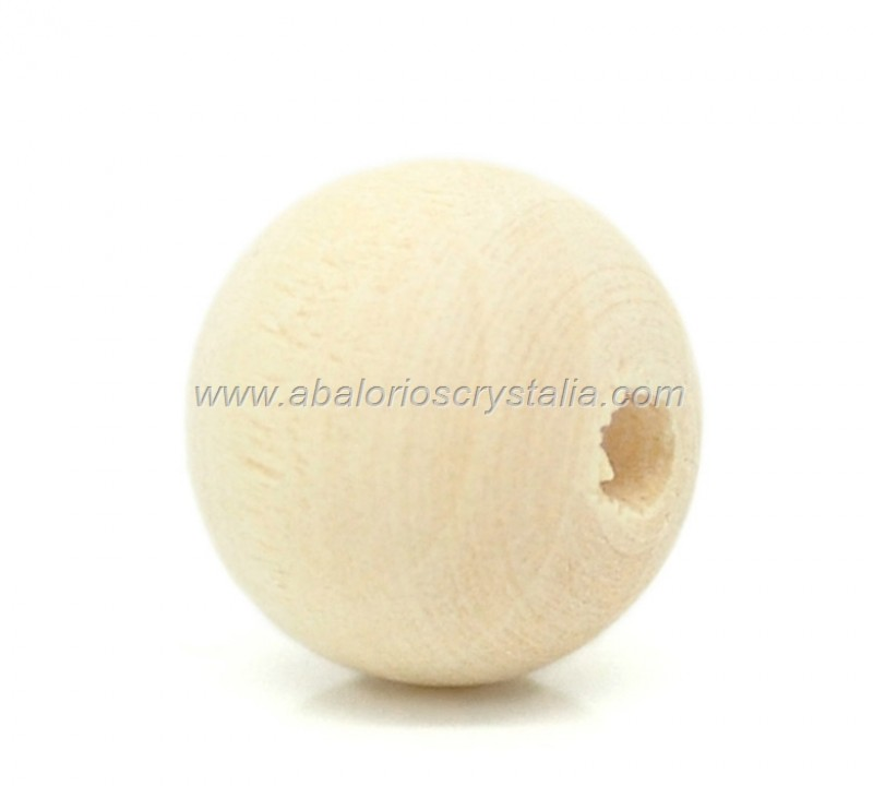 10 BOLAS DE MADERA NATURAL 12mm