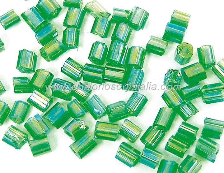 20 GR ROCALLA MINI CANUTILLO VERDE OSCURO AB 2.5x2mm