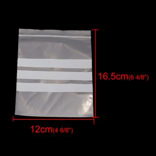 10 BOLSAS DE PLASTICO ESCRITURA CIERRE ZIP 15x12cm