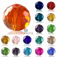 15 BOLAS CRISTAL FACETADO AJEDREZ TIPO AUSTRIACO 8mm MIX COLORES