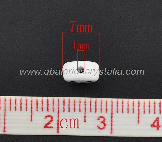 FICHAS ACRÍLICAS BLANCAS 7x7mm LETRA H (5 uds.)
