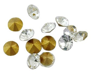 50 CHATONES DE CRISTAL COLOR CRISTAL (5.4 mm)