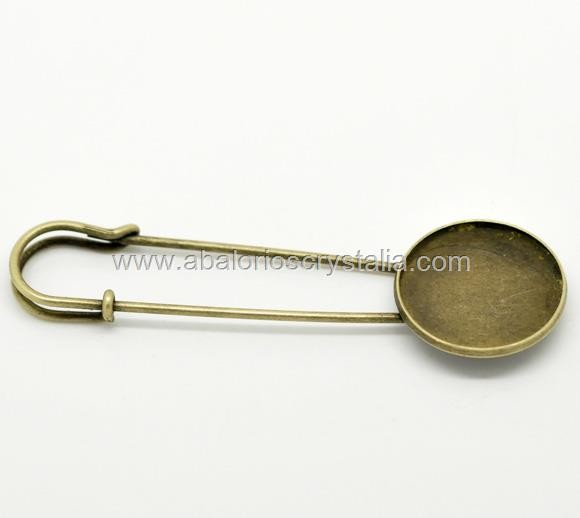 1 IMPERDIBLE CON DISCO BASE CAMAFEO 7.8cm x 2.5cm (Base 22 mm)