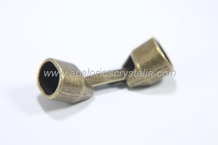CIERRE PARA CUERO REGALIZ LISO BRONCE (10x7mm)