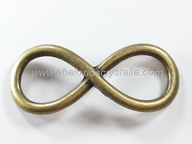5 CONECTORES INFINITO BRONCE 30x12mm
