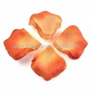 100 Pétalos de Rosa de tela 5x5cm Naranja 2