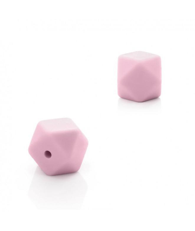 1 Poliedro Rosa claro 14mm