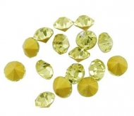 150 CHATONES DE CRISTAL COLOR AMARILLO CLARO (2 mm)