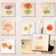 LÁMINA CON 35 IMÁGENES 25x25mm Dama-flores