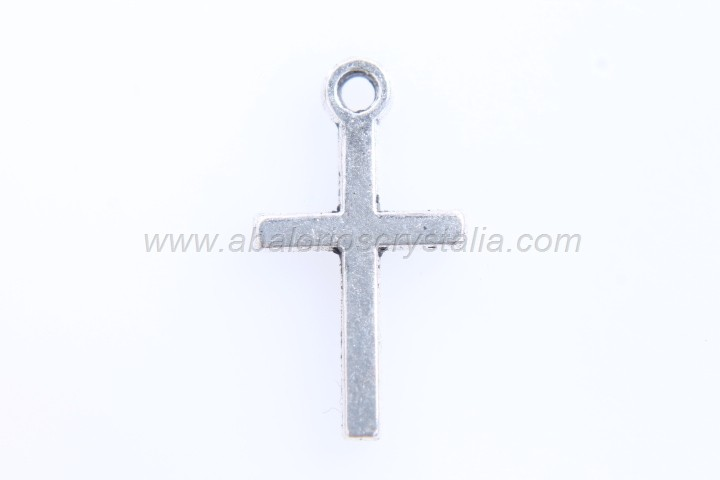 10 CRUCES PLATA ANTIGUA 18x10mm