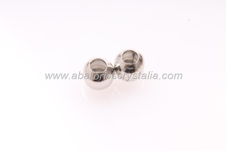 30 BOLAS ESPACIADORAS PLATA ANTIGUA 5MM