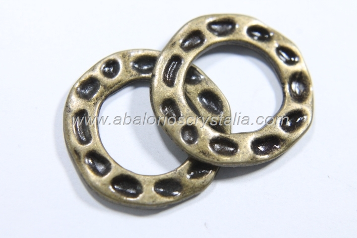5 CONECTORES ANILLA BRONCE 24x24x1.7mm