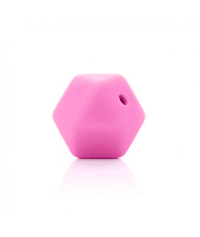 1 Poliedro Rosa fuerte 14mm
