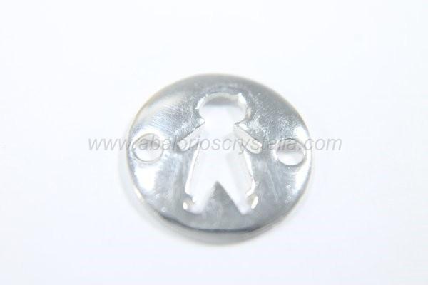 Conector entrepieza niño calado 12.5 mm plata 925