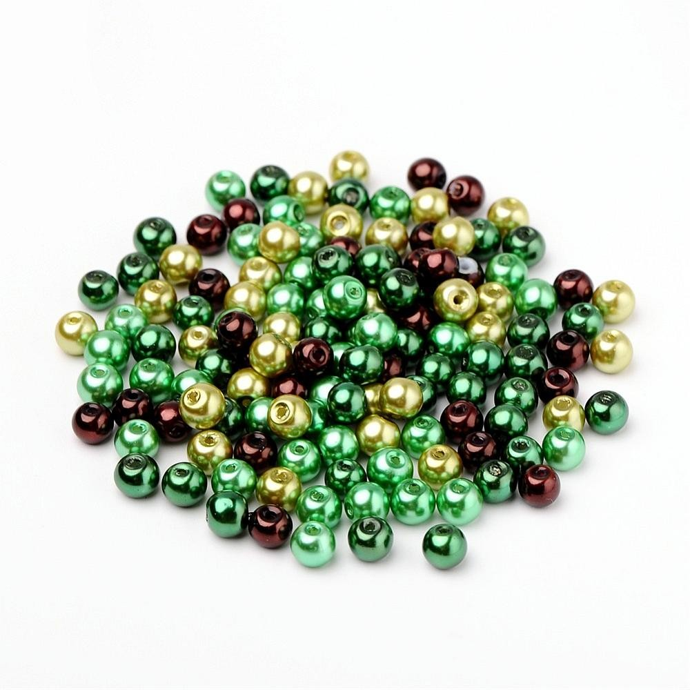50 PERLAS DE CRISTAL 6mm MIX 4