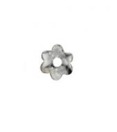 Casquilla flor 5mm plata 925